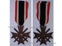 NAZI Germany WW2 Military Cross War Merit Swords 1939 2nd Class WWII 1940 1945 German Decoration