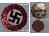 NAZI Germany WW2 NSDAP Party Membership badge German Decoration WWII 1939 1945 Maker RZM M1/102 Frank & Reif