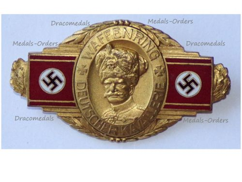 NAZI Germany Badge of Honor of Field Marshal Mackensen, 1st Class, by the Ring of Arms of the German Cavalry Veterans Association