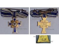 NAZI Germany WWII Mothers Cross 1938 Gold Class 2nd Type 1939 Marked L/15 by Otto Schickle MINI