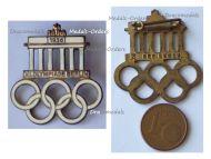 NAZI Germany XI Olympiad Badge Berlin 1936 Summer Olympics by Hermann Aurich