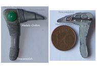NAZI Germany WWII Germanic Axe WHW Badge Tinnie Marked W2