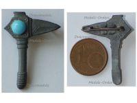NAZI Germany WWII Germanic Axe WHW Badge Tinnie Marked W4