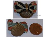 Germany WWI Ribbon Lapel Pin Boutonniere 2 Medals Hesse Bravery Tapferkeit Medal Iron Cross 1914