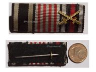 Germany WW1 Hanseatic Bremen Iron Cross Hindenburg Military Medal Ribbon Bar WWI 1914 1918 German