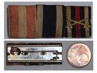 Germany WWI 3 Medals Ribbon Bar Hamburg Hanseatic Cross Iron Cross Hindenburg Cross for Combatants