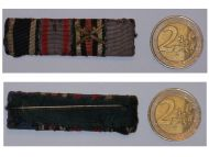 Germany WW1 Iron Cross EK2 Oldenburg Merit Friedrich August FA2 Military Medals Ribbon Bar 1914 1918 German