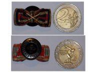 NAZI Germany Hungary Bulgaria Ribbon Lapel Pin Boutonniere 5 Medals (WWII Iron Cross & Loyal Civil Service Medal, WWI Hindenburg Cross, Bulgarian & Hungarian Commemorative Medal Pro Deo et Patria)