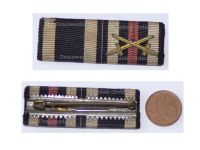 Germany WWI 2 Medals Ribbon Bar Iron Cross Hindenburg Cross with Swords