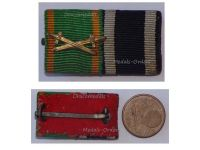 Germany WWI Baden Knight Order Zahringen Lion Swords Iron Cross EK2 Prussia Military Medals Ribbon Bar WW1 1914 1918 German