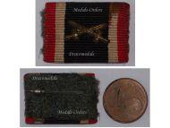 NAZI Germany WW2 War Merit Cross Swords Combatants Medal Ribbon Bar German Decoration 1939 1945