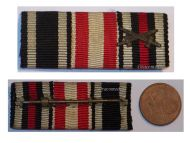 Germany WWI 3 Medals Ribbon Bar Iron Cross Hamburg Hanseatic Cross Hindenburg Cross for Combatants