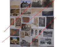 Germany WW1 23 photos Field Post postcards Solders Military Hospital Cavalry Spiked Helmet Ruins German Photograph Great War