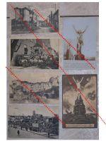 Germany WW1 6 photos Field Post postcards Soldiers Jesus Saarburg Military Hospital Ruins German Photograph Great War 1914 1918