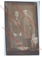 Germany Prussia WWI Photograph NCO Grenadier Guard Kaiserin Augusta Regiment N.4 with Iron Cross 2nd Class Ribbon