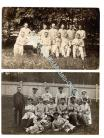 Germany WW1 2 Postcards Military Field Hospital Group Nurse Post Red Cross Photograph 1914 1918 Great War WWI