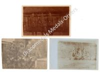 Germany WW1 3 Photos NCO Infantry Soldiers Groups Iron Cross Ribbon Bar Photo Prussia 1914 1918 Great War
