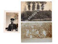 Germany WW1 3 Photos NCO Iron Cross Medal Bar Field Hospital Nurses Doctors Photo Prussia 1914 1918 Great War