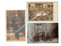Germany WW1 3 Photos Squad Mecklenburg Merit Iron Cross FF1 Soldiers Field Post Photograph 1914 1918 Great War WWI