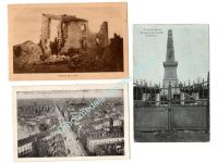 Germany WW1 3 Postcards Occupied France Lille Haumont Field Post Photograph 1914 1918 Great War WWI