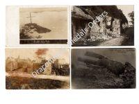 Germany WW1 4 Photos Unexploded Ordnance French Heavy Mine Field Post Postcard 1914 1918 Great War