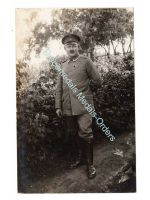 Germany WW1 Photo NCO Iron Cross Medal Ribbon Bar Photograph Prussia 1914 1918 Great War