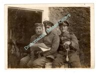 Germany WW1 photo Soldiers Iron Cross Medal Ribbon Sword Cap German Army Great War 1914 1918
