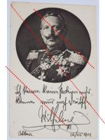 Germany WW1 photo Kaiser Wilhelm II patriotic postcard Decorations Prussia 1914 1918 Great War Declaration