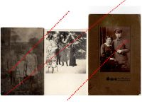 Germany WW1 3 Field Post Photos Iron Cross Soldier Iron Cross Ribbon Bar Cap postcards Great War 1914 1918