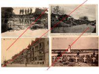 Germany WW1 4 Field Post postcards Destroyed Bridge Military Cemetery Great War 1914 1918