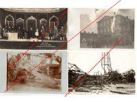 Germany WW1 4 Field Post postcard Destroyed Artillery Gun Field Theater German Great War 1914 1918