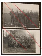 NAZI Germany WW2 2 photos photographs 1939 1945 Group German Soldiers Officers NCO Cap Wehrmacht Photograph