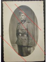 NAZI Germany WW2 photo German Infantry Soldier portrait cap WWII 1939 1945 Wehrmacht photograph
