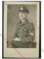 NAZI Germany WW2 photo German NCO Sergeant portrait Wound Badge Cap Medal Ribbon Bar WWII 1939 1945 Wehrmacht photograph