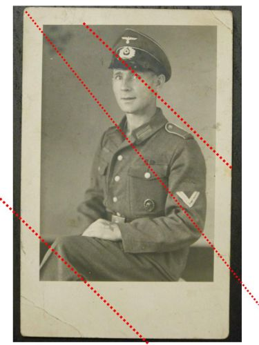 NAZI Germany WW2 photo German NCO Sergeant portrait Wound Badge Cap Medal Ribbon Bar WWII 1939 1945 Wehrmacht photograph
