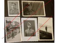 NAZI Germany WW2 5 photos German Officer NCO Iron Cross EK2 Assault Badge Wehrmacht WWII 1939 1945 Photograph