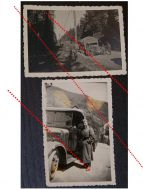 NAZI Germany WW2 2 photos German Soldier Military Convoy Truck photographs WWII 1939 1945 Photograph