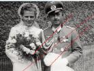NAZI Germany WW2 photo German Officer Iron Cross EK1 Sudetenland Medal Silver Wound Sport Badge Wehrmacht Wedding Photograph Reprint