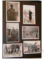 NAZI Germany WW2 6 photos German Soldiers NCO Occupied France photographs Army Military Wehrmacht WWII 1939 1945 Photograph