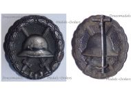 Germany WWI Black Wound Badge for the Army Iron Made (Magnetic) Type