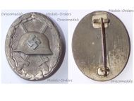 NAZI Germany WWII Silver Wound Badge 1940 1945 Maker 107