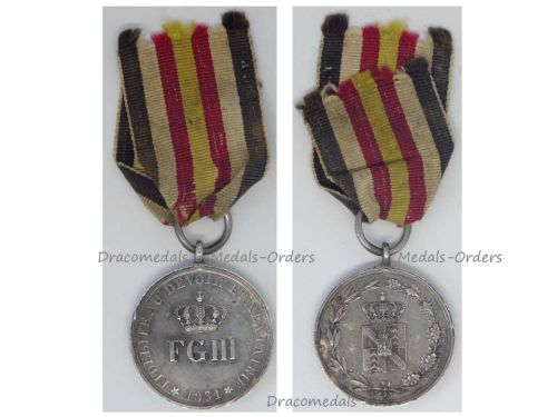 Germany Prussia Neuchatel Insurrection Silver Medal 1831 King Friedrich Wilhelm III German Prussian Award