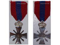 Greece WW2 Cross Military Merit Medal 2nd Class Silver Crown Decoration 1940 Greek WWII 1945