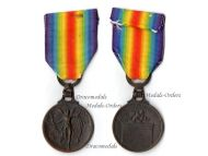 Greece WW1 Victory Medal Interallied 1914 1918 Commemorative Great War WWI Decoration Greek Unofficial type 1
