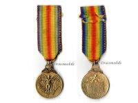 Greece WW1 Victory Medal Interallied 1914 1918 Commemorative Great War WWI Decoration Greek MINI