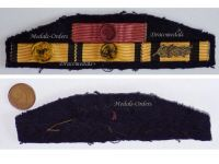 Greece WW2 Officer Royal Order Phoenix George Civil Military Medal Merit 1940 1945 Greek Ribbon Bar Decoration Lt Colonel