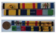 Greece WW2 Officer Order Phoenix Navy Cross Military Medal Commemorative Star Greek ribbon bar 1940