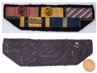 Greece WW2 Royal Hellenic Air Force Cross Merit Officer Order Phoenix George Military Medal Commemorative War 1940 Greek ribbon bar