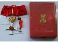 Order Our Lady of Mercy Commander Cross Medal Aragon Royal Military WWI 1914 1918 Great War Boxed Miniature Lapel Pin Johnson