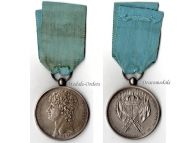 Italy Kingdom Two Sicilies Flags Distribution Provincial Legions 1809 Military Medal King Murat Napoleonic Wars